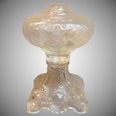 "Wonderful Vintage "" Princess Feather"" Pattern Sewing Oil Lamp"