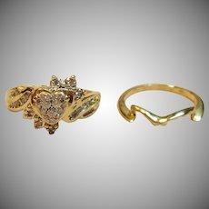 Mellow Diamond Wedding Set In 14K Yellow Gold