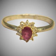 Fascinating Ruby & Diamond Ring in Platinum & 18K