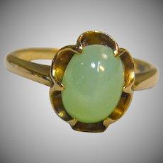 Pleasing Star Sapphire ring 10K Yellow Gold