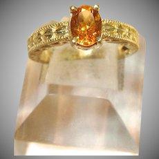 Lovely Citrine Ring in 14K Yellow Gold