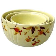 Stunning Set of Vintage Jewel Tea Autumn Leaf Bowl by Hall Pottery Circa 1933