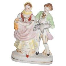 Antique Bisque Figurine Couple