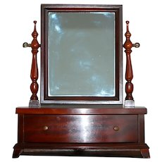 SUMMER CLEAN OUT:  Wood Shave Vanity Mirror w Drawers