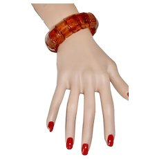 Vintage Honey Amber Stretch Bracelet