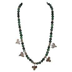 Opaque Ruby Tanzanite Ethnic Necklace