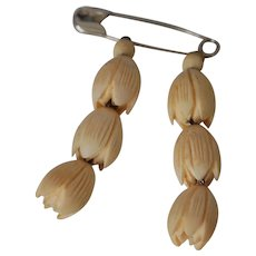 Carved Bone Lily of Valley Flower Dress Ornaments