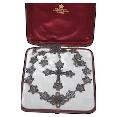 Pristine Berlin Iron 4 Pc Parure in Original Box