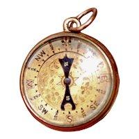 Victorian 18ct Engrave Dedication Compass Barometer