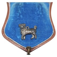 Early Metal Pug Charm