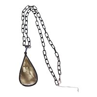 Art Deco Cool Looking Chain w Lg Pendant