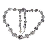 Vintage c1940 Cut Crystal Necklace
