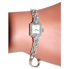 Clearance: WORKING Platinum Diamond Watch ~2ctw