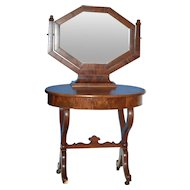 Choice Mahogany Ladies Dressing Table w Trifole Mirror c1830