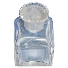 Vict Glass Travel Bottle w Decorative Glass Stopper c1850