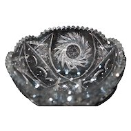 Sparkling American Brilliant Cut Crystal Bowl Beautiful