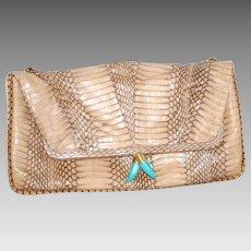 Vintage Handmade Clutch or Shoulder Handbag Purse