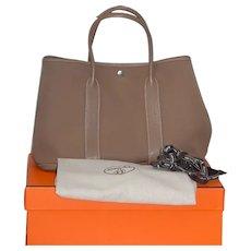 Hermes Garden Party Bag 36 Etoupe
