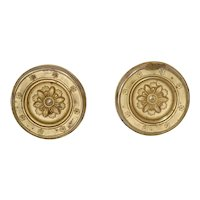 Pair Antique Am Federal Empire Curtain Tie Backs, Neckl Holder