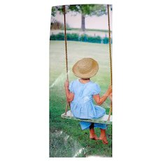 HandPainted Tree Swing Unused Vintage