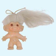c1960's Troll w White Hair Amber Eyes