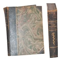 Pair c1930 Leather Bound Danish Medical Books