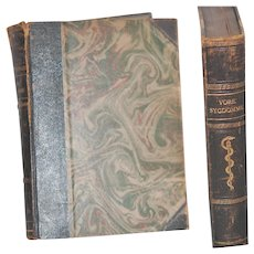 Pair c1930 Leather Bound Danish Medical Books