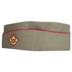 Vintage c1930-60 New Boy Scout Garrison Uniform Hat & Pin