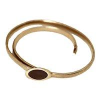 Anne Klein Gold Tone Stretch Belt