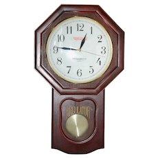Heritage Mint Quartz Regulator Wall Clock Never Used