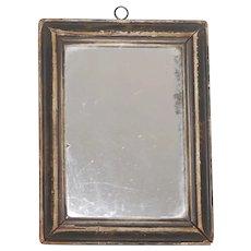 Primitive Antique Solid Beveled Wood Frame w Handmade Nails