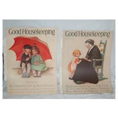 Pair of 1920s Jessie Wilcox Smith Good Hsekeeping Covers