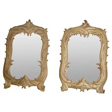 Pair Gold Gilt Antique Mirrors