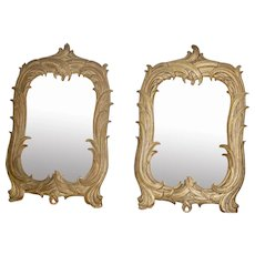 Pair Gold Gilt Antique Mirrors