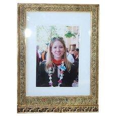 c1905 Tiffany Studio Enamel Venetian Antique Picture Frame