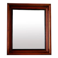 "Antique Solid Wood 12x14 x 2"" Deep Frame w Mirror"