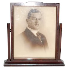 Large Deco Carved Wood Swivel Picture Frame Holds up to 8x10 pic