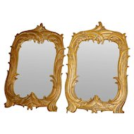 Pair of Gold Gilt Antique Mirrors