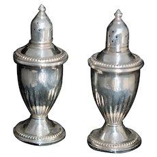 Glass Lined Sterling Silver Salt Pepper c1940