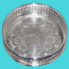 New Estate Silverplate Bottle Coaster