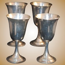 Sterling Lord Saybrook Silver Goblet w Gold Wash