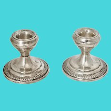 PAIR Sterling Silver Weighted Candleholders