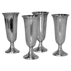 Set 4 Sterling Silver Cordials