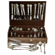 Unused 76 pc Stainless Flatware Set in Case