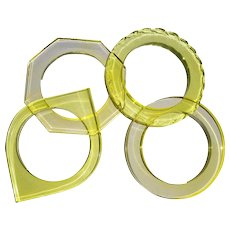 Vintage Set of Four Lucite Acrylic Assorted Bangles