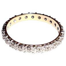 1930 Art Deco 14K Gold Diamond Eternity Ring Band or Stacker Stacking Size 8.5