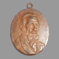 Antique Victorian Fob Mendele Sforim Grandfather of Yiddish Literature Judaica