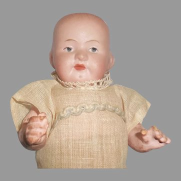 German Bisque Chunky Baby Doll Cabinet Size