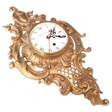 Decorative Brass Kessler Wall Clock Non Working