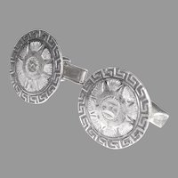 Mexican Sterling Silver Cufflinks Eagle Mark 28 Bernice Goodspeed